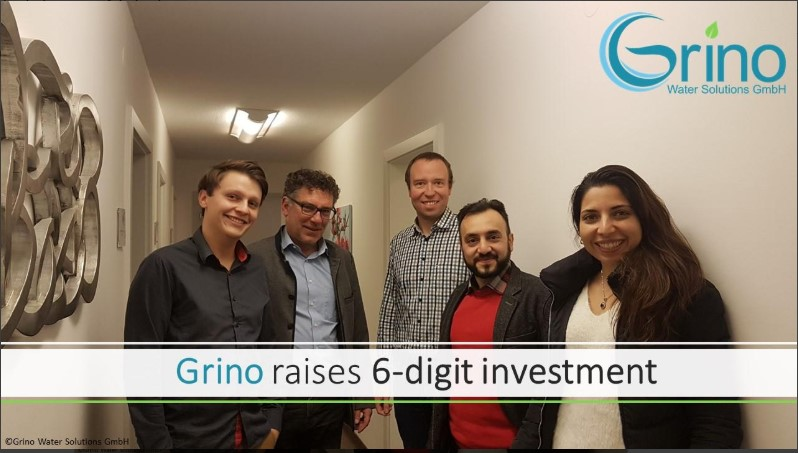Grino announce a 6-digit investment